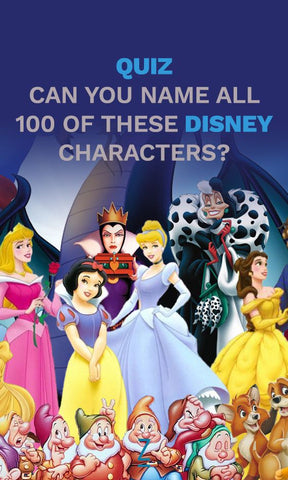 Can you name all 100 of these Disney Characters? Disney Quiz