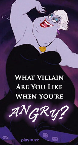 Which villain are you when you are angry? Disney quiz