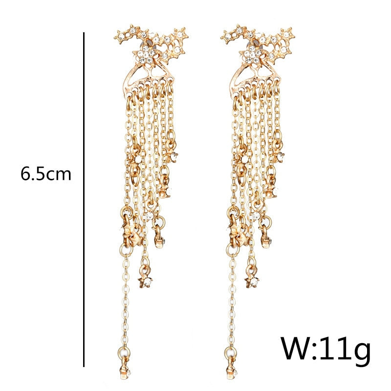 Star & crystal statement Fashion Gold or Silver Earrings - Disney Voguette