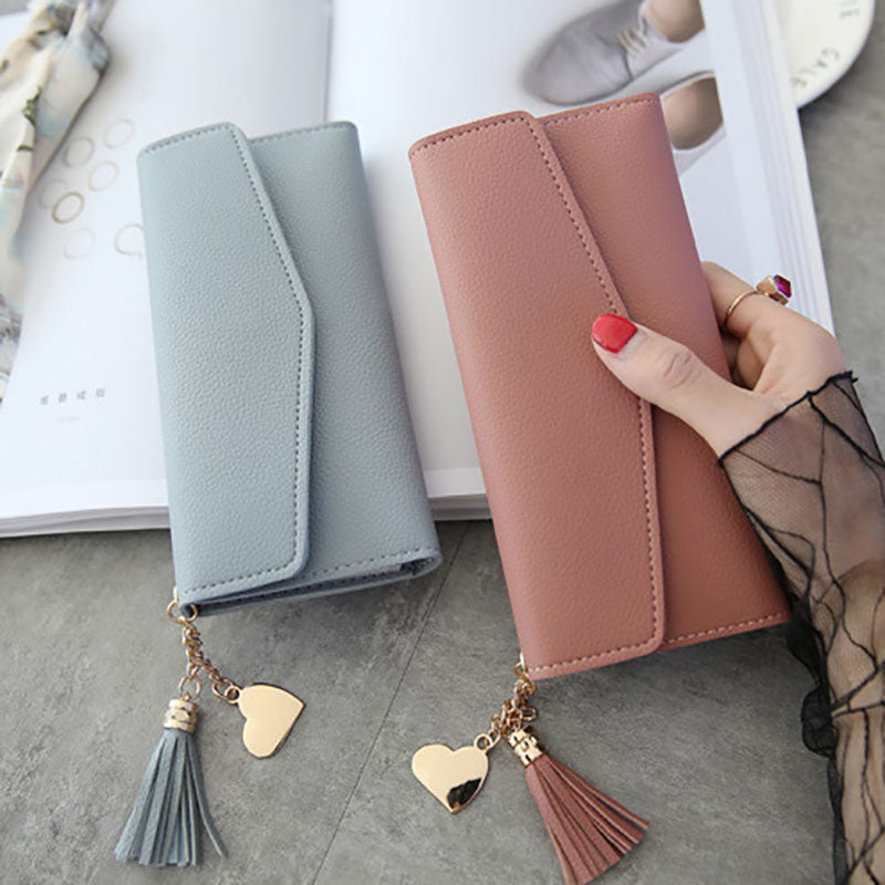 Womens  Fashion Wallet tassel & heart cute - Disney Voguette