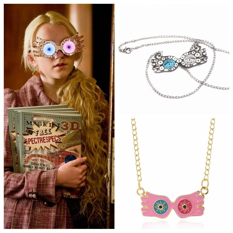 Luna Lovegood inspired necklace spectrespecs quibbler - Disney Voguette