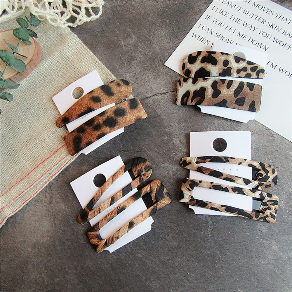 2PCS Fashion Leopard Print Hair clip Set - Disney Voguette