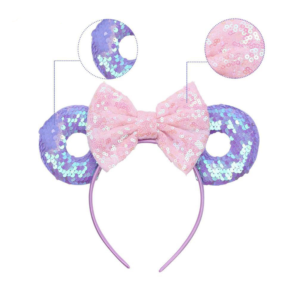 Minnie Mouse Donut Sequins Bow Mouse Ears Headband PRICE DROP! - Disney Voguette
