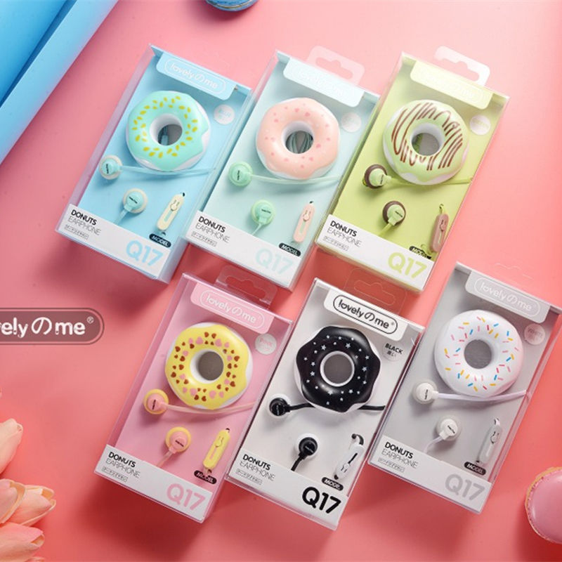 In-Ear Cute Earphones sprinkle Donut Cartoon Earphones - Disney Voguette