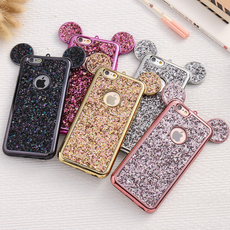 Glitter Mouse Ears Soft TPU Case for Iphone & Samsung - Disney Voguette
