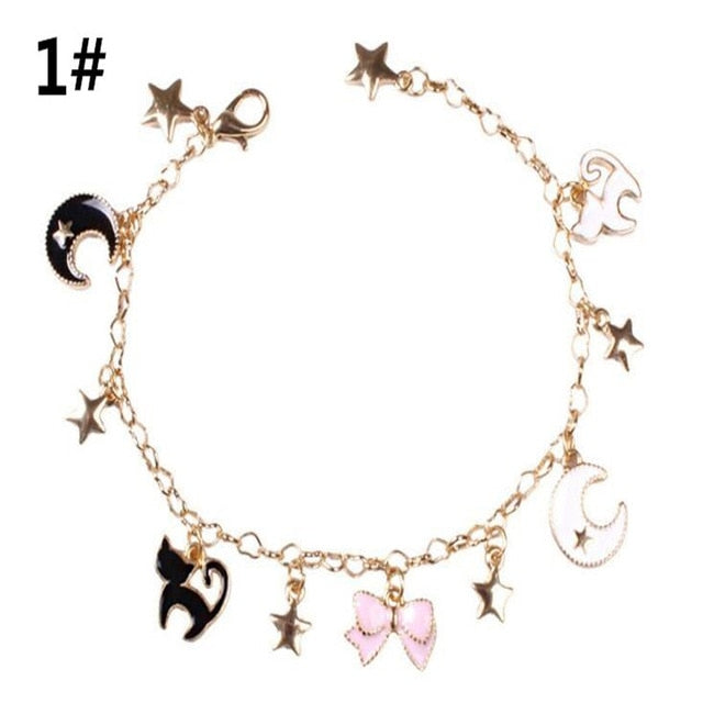 Anime Sailor Moon Luna cat Pendant bracelet - Disney Voguette