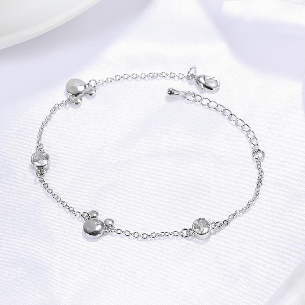 beautiful charm Crystal Zirconia Mouse bracelets - Disney Voguette