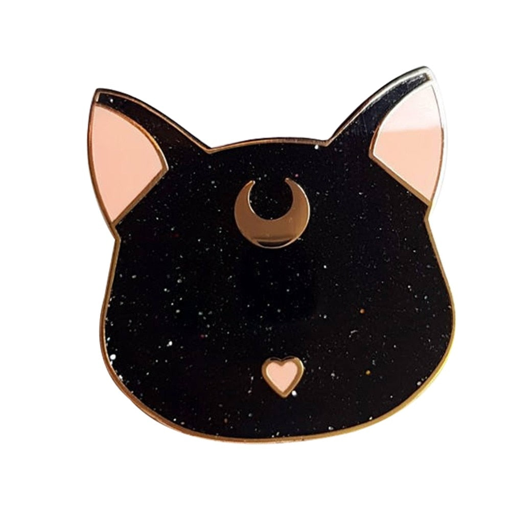 Luna cat Sailor Moon inspired pin - Disney Voguette