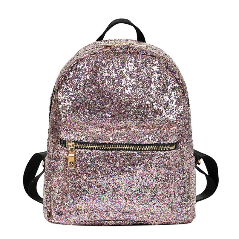 Fashion Women Glitter Sequins Backpacks - Disney Voguette
