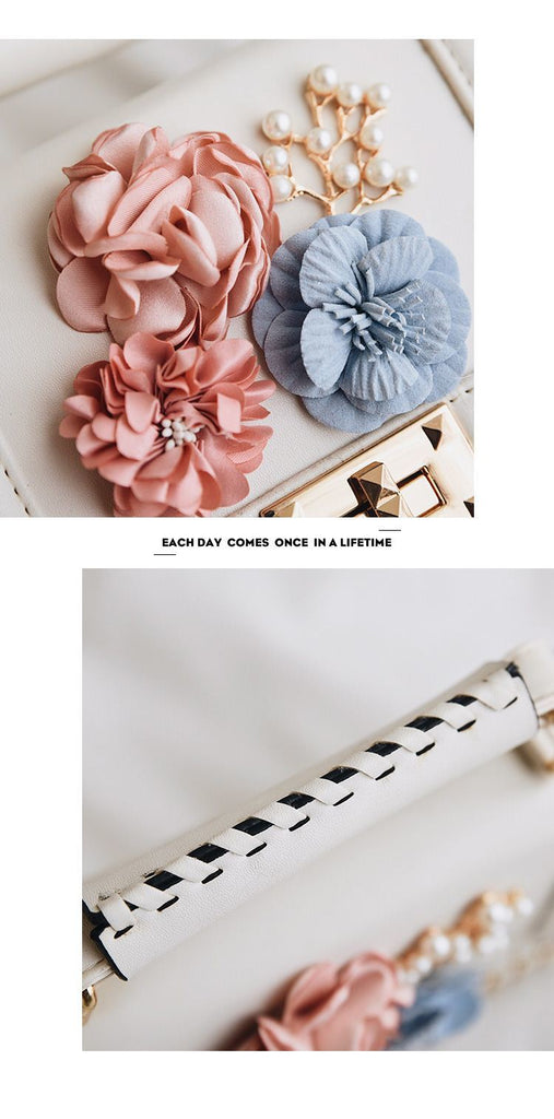 Luxury Handbag Fashion Flower Flap Pu Leather Chains Lock Women Messenger Bags - Disney Voguette