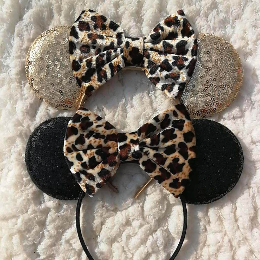 Animal print sequin Mouse ears headband - Disney Voguette