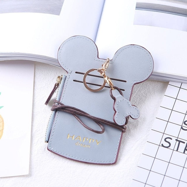 Mini Mickey PU Card holder  with neck chain - Disney Voguette