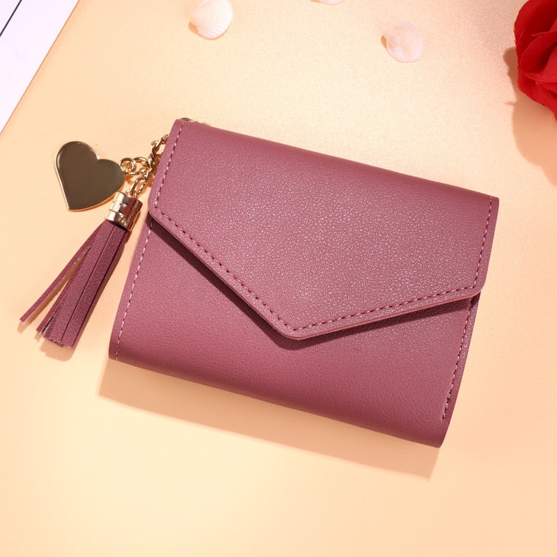 Mini Womens fashion Travel Wallet tassel & heart - Disney Voguette