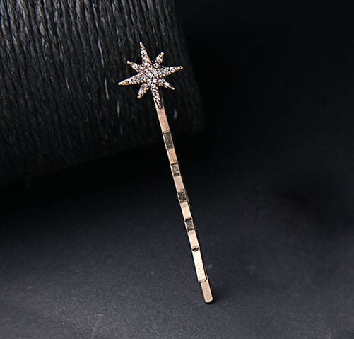Moon & Star Rhinestone Hairpin Vintage Women Hair Clip & pins - Disney Voguette