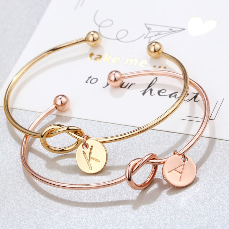 Knot Personalised Initial bangle - Disney Voguette