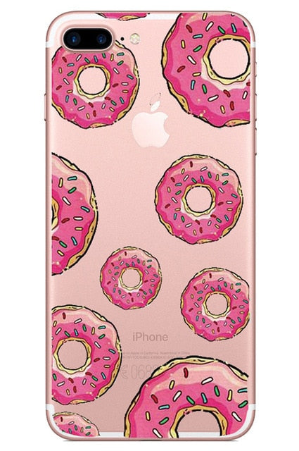 Phone Case For iPhone Cover Donut or Ice Cream Soft Silicone TPU Case - Disney Voguette