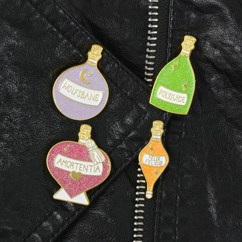 Potion Master Glitter Enamel Brooch Witchcraft Wizardry Badge - Disney Voguette