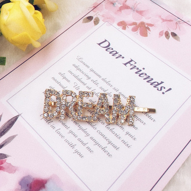QUEEN BABY MISS DREAM Rhinestone word Hair Clips - Disney Voguette
