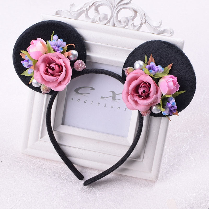 Rose Minnie Mouse Ears Flower Headband - Disney Voguette