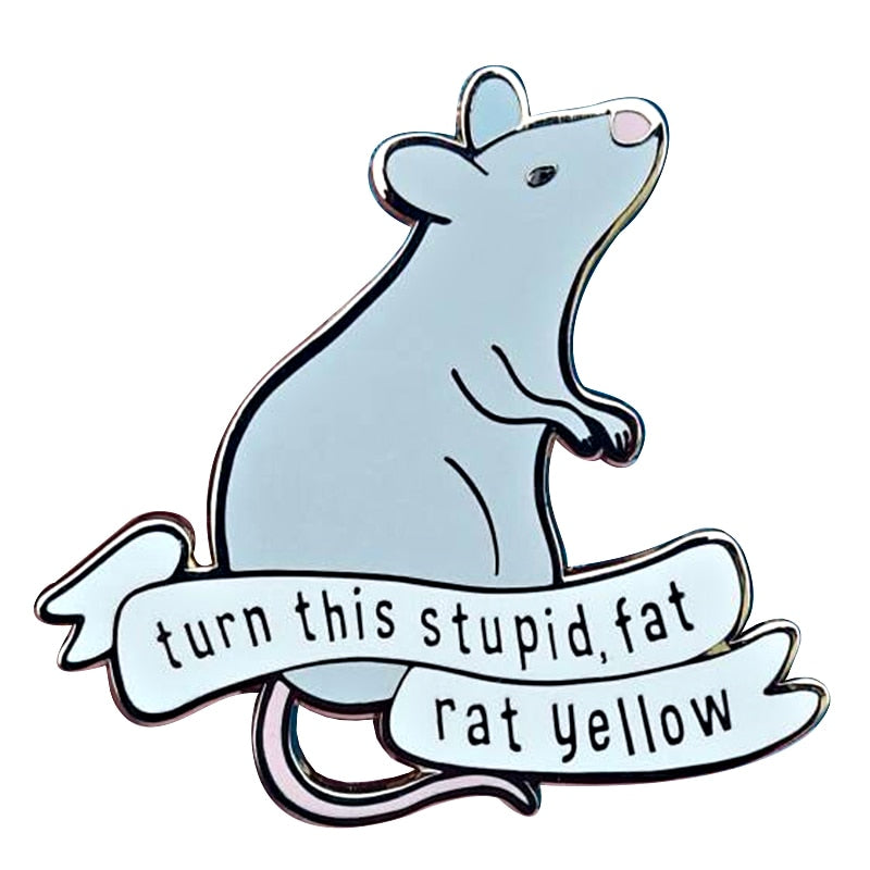 Scabbers - Turn this stupid fat rat yellow Pin badge - Disney Voguette