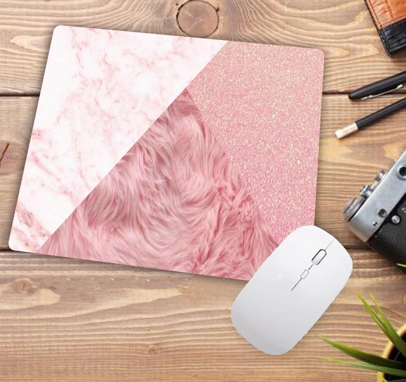 Faux Glitter Pink Marble Mouse Pad multiple styles available - Disney Voguette