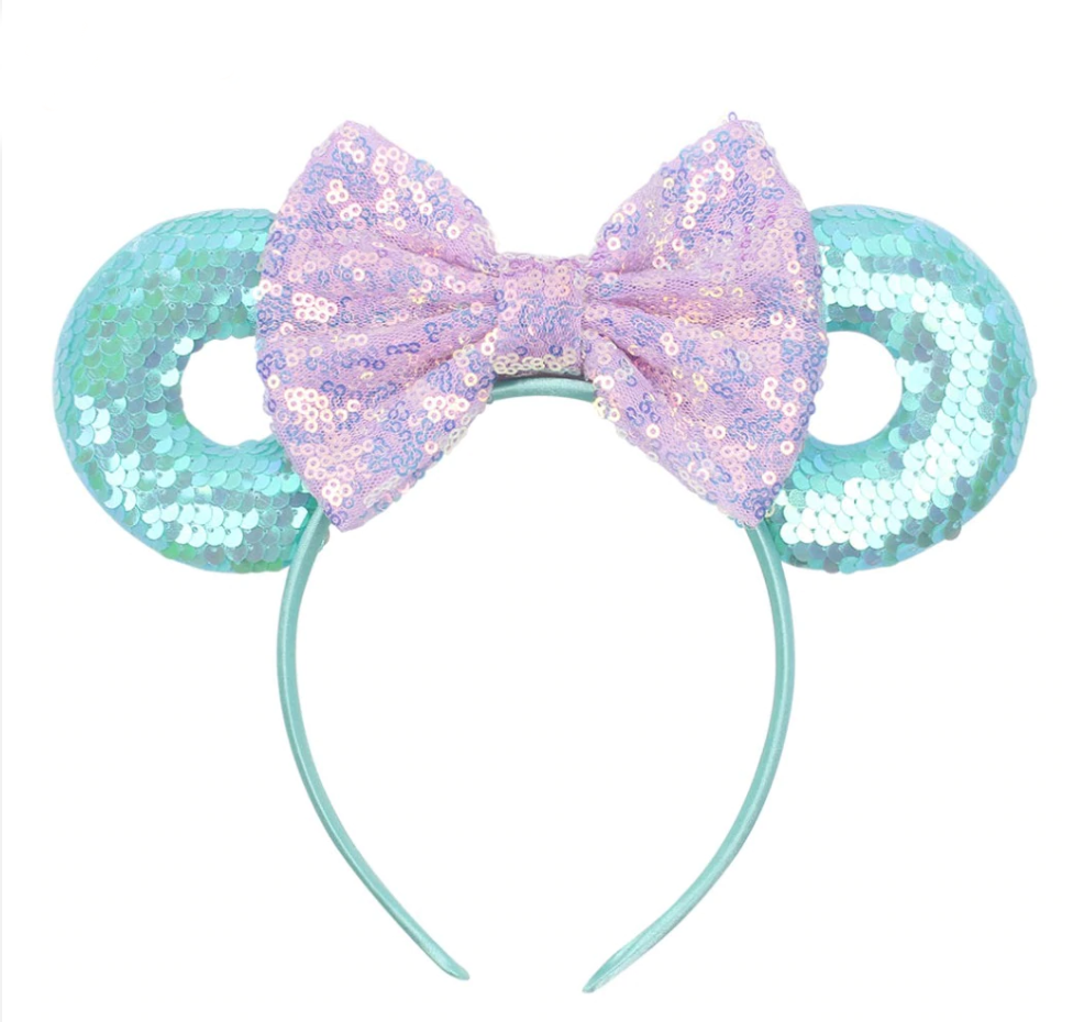 Minnie Mouse Donut Sequins Bow Mouse Ears Headband - Disney Voguette