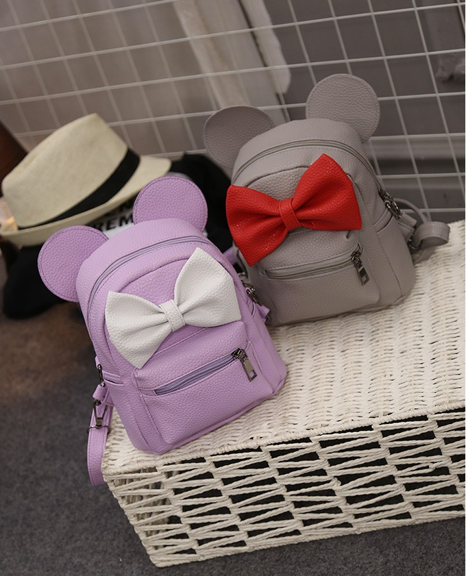 Adorable Bow Mickey ear Mini Backpack Pu Leather - Disney Voguette