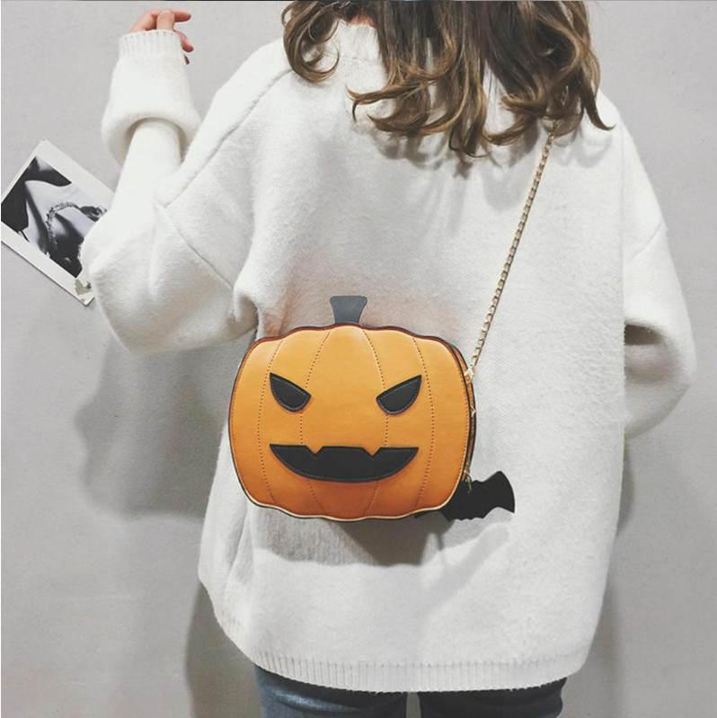 Halloween Pumpkin Shaped PU Leather Handbag - Disney Voguette