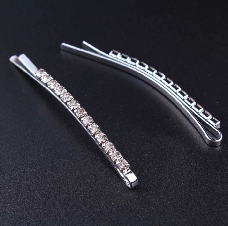 Straight & X Hairpins Crystal sparkly Rhinestones 3 pack Hair Clips - Disney Voguette