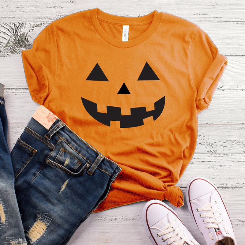 Pumpkin T-Shirt Women Halloween Pumpkin Tee - Disney Voguette