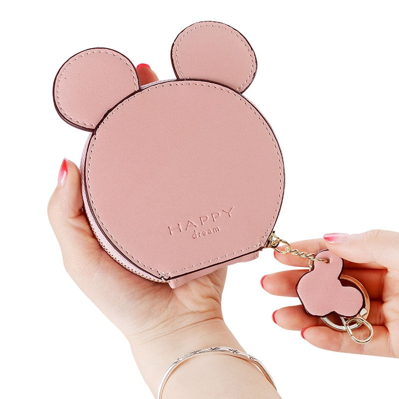 PU Leather Cute Mouse Big Ears Coin Purses Women's mini bag - Disney Voguette