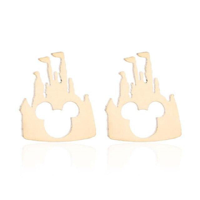 Mini Castle and mouse Earrings cute studs Womens - Disney Voguette