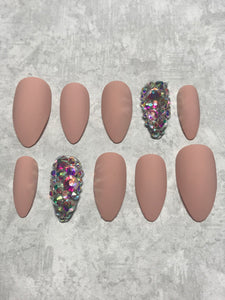 Nude Pink Bling