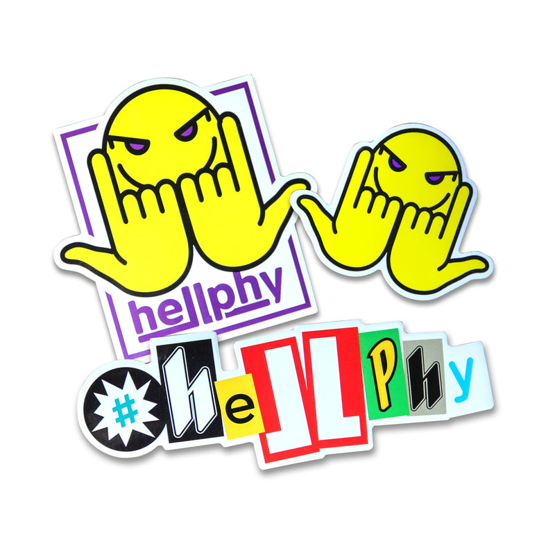 Hellphy 15pc Sticker Pack