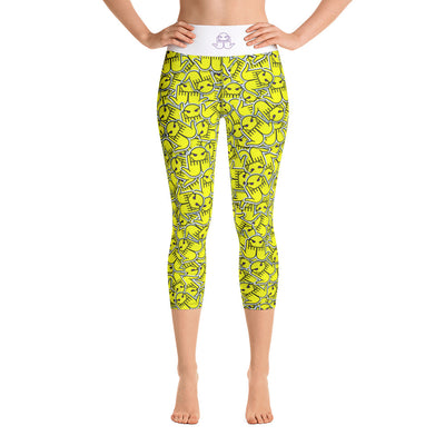 """Faced"" Yoga Capri Leggings"