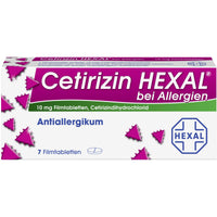 Cetirizin HEXAL Tabletten bei Allergien, 7 St. Tabletten