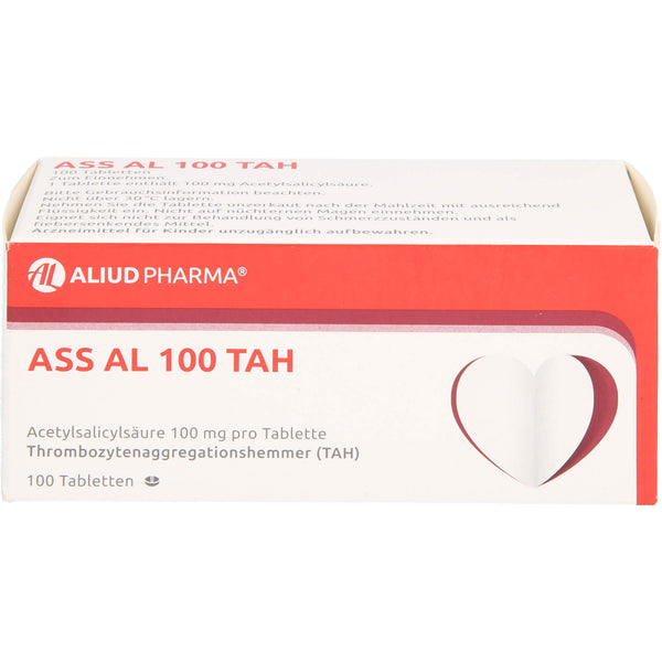 ASS AL 100 TAH Tabletten, 100 St. Tabletten