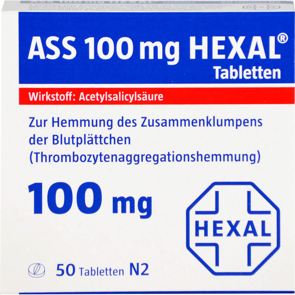 ASS 100 mg HEXAL Tabletten, 50 St. Tabletten