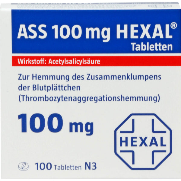 ASS 100 mg HEXAL Tabletten, 100 St. Tabletten