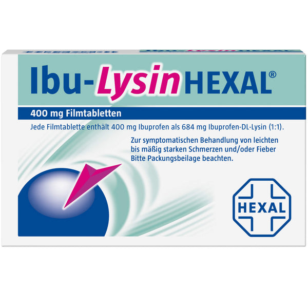 Ibu-Lysin HEXAL 684 mg Filmtabletten, 10 St. Tabletten