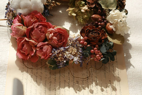 floral wreath embellishments