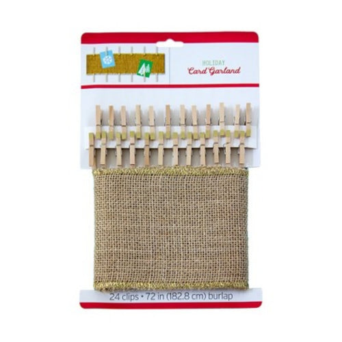 Holiday Burlap Card Garland