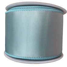 Two And Half Aqua Ribbed Satin Ribbon