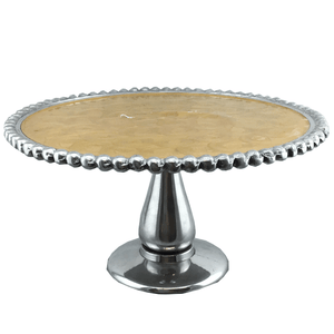 "10"" Gold & Silver Cake Stand"