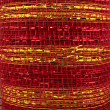 "10"" x 10 YDS Designer Netting - Glitz Red with Gold Glamour"