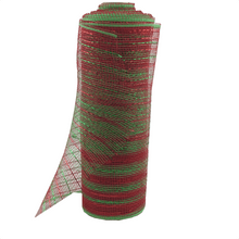 "10"" x 10 YDS Designer Netting - Lime Candy Cane Glamour"