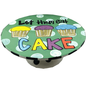 "10.5"" ""Let Them Eat Cake"" Ceramic Cake Stand Magnolia Lane"