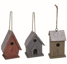 "10.5"" Metal/Wood Country Birdhouse - 3 Styles"