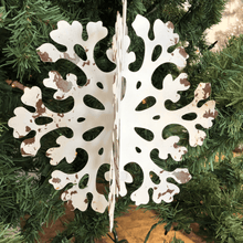 "10.5"" Small Rustic Metal 3D Round Snowflake Ornament - 2 Styles"