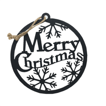 "10.75"" Matte Black Metal Christmas Sign - 5 Styles"